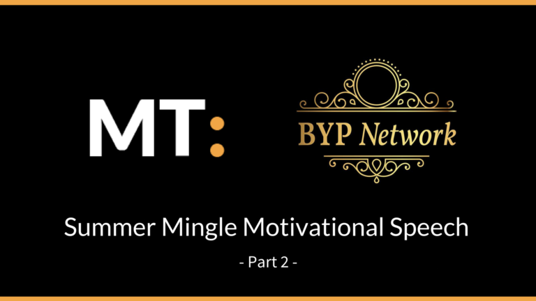 BYP Network: Summer Mingle | Motivational Speech – Michael Tabirade Part 2
